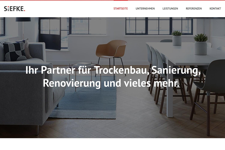 Siefke Startseite Webseite Webdesign Webauftritt Website Relaunch
