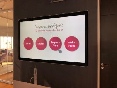 Hunold Haus Digital Signage digitalsignage Touch Touchbildschirme Marketing Showroom interaktiv Eichsfeld Leinefelde