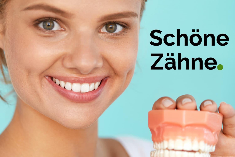 Schöne Zähne Versicherung Landingpage Zusatzversicherung Kampagne Versicherungsmakler