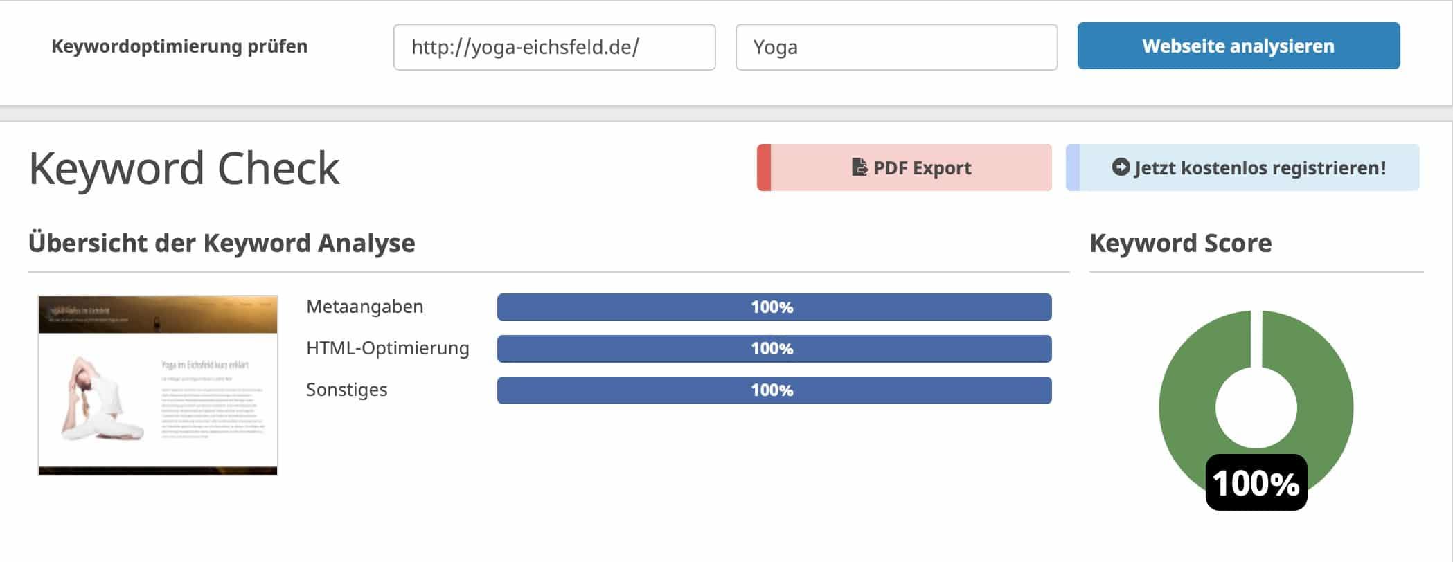 Yoga Eichsfeld Leinefelde Worbis Seite Webseite SEO Homepage Logo Corporate Design Selbständige Webdesign Agentur Marketing