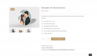 Disclight Onlineshop Online-Shop Eshop e-commerce erstellen lassen