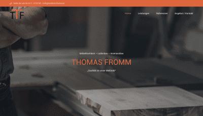 Handwerker Webseite Homepage Selbständige Unternehmer Freelancer - Tischlerei Fromm
