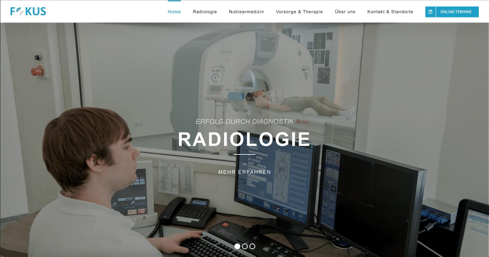 Praxis Webseite - Radiologie Heiligenstadt Webseite Homepage für Ärzte Arztpraxen Praxen