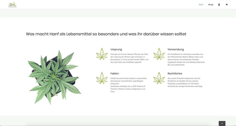 Webshop Online Shop Onlineshop Hanfprojekt Hanf Projekt Eichsfeld